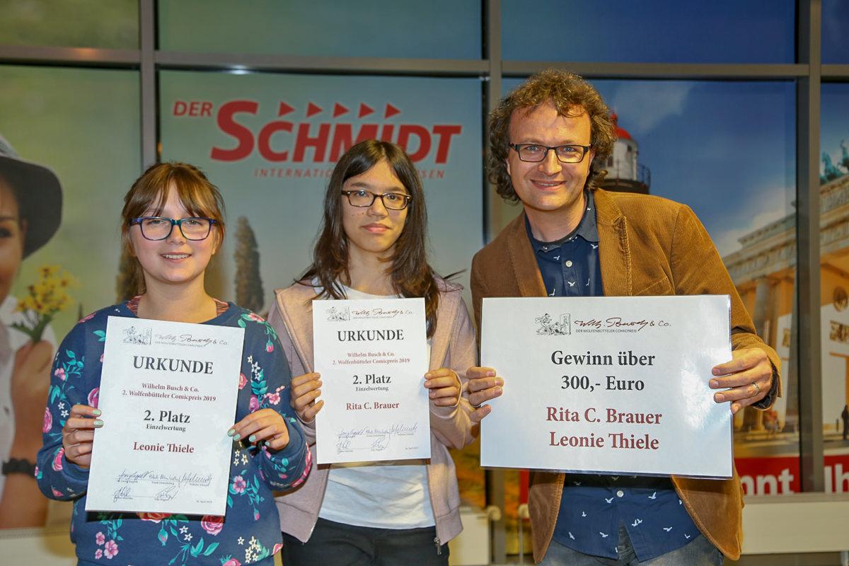 Leonie Thiele und Rita C. Brauer (2. Platz Einzelwertung)